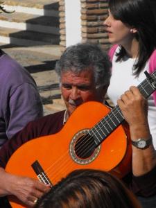 Antonio Pino with guitar