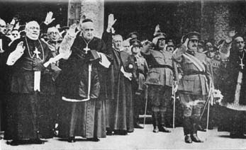 In spite of the resignation of the fascist pope Joseph Ratzinger, the Catholic Church continues to press its Nazi credentials on Spain