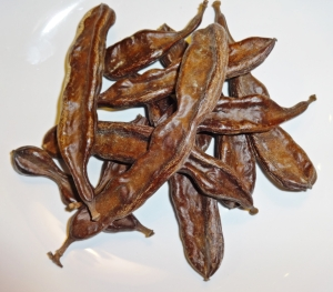 Carob pods, dried and ripened